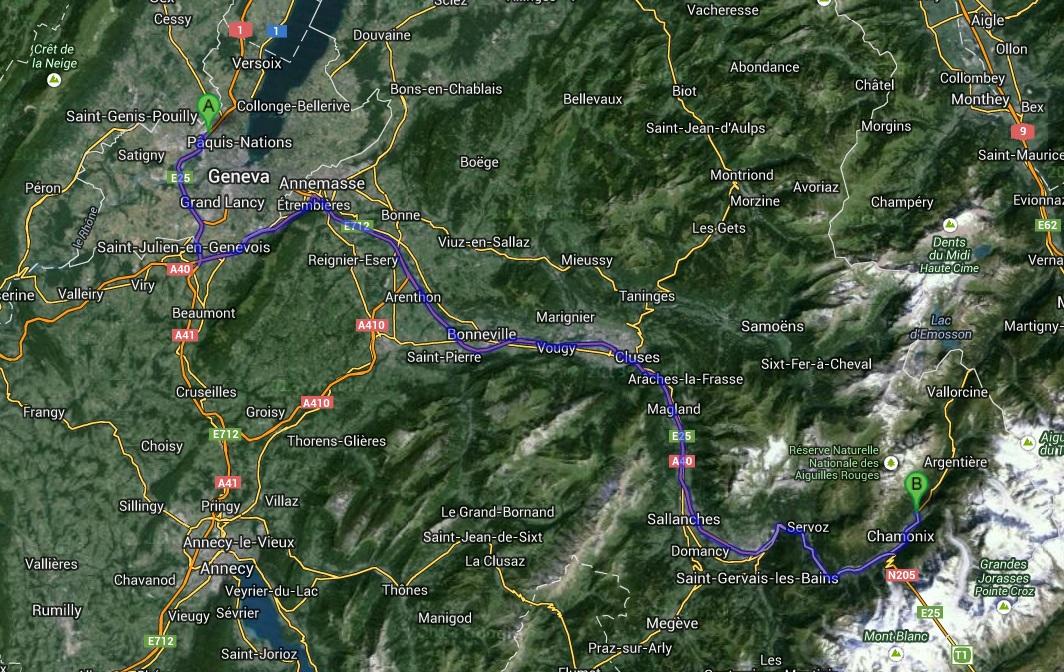 Geneva-Chamonix