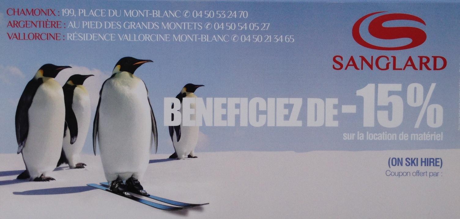 Sanglard discount ski rental